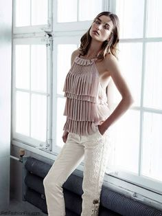 Andreea Diaconu for H&M Conscious Collection 2014