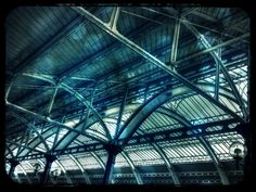 The roof of green park station
