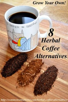 8 Herbal Coffee Alternatives, Including 2 You Can Grow – Check out these natural, caffeine free, herbal coffee alternatives for a healthier morning habit or a warm and toasty drink that won't keep you up at night. Healthy Drinks, Healthy Snacks, Healthy Recipes, Tuna Recipes, Detox Drinks, Yummy Drinks, Healthy Habits, Healthy Life, Yummy Food