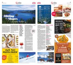 Hitting the Slopes at Lake Tahoe|Epoch Taste #Food #Travel #newspaper #editorialdesign