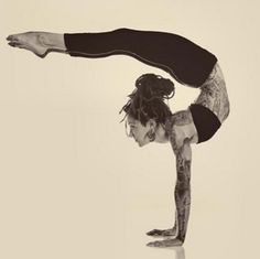 scorpion #yoga, crazy...love the strength both physically and mentally it takes to do this!