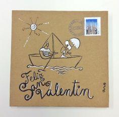 """Barco de papel""  Campaña #sanvalentin postales personalizadas de #aroideas  http://www.aroideas.com/postales/"