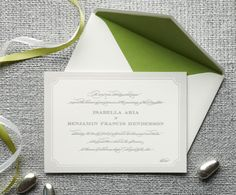simple and elegant #invitation #wedding
