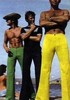 I need those tight green pants. #70s fashion