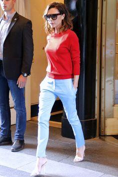投奔初夏!這鮮紅、鮮黃色的穿搭,竟是出自 Victoria Beckham 身上!?
