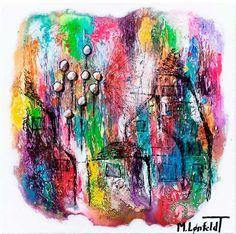 NEW PAINTING !  Suburbs I  40x40 cm  My website:   #art #painting #artbylonfeldt