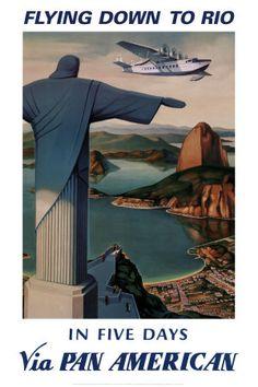 Voando para o Rio Impressão artística