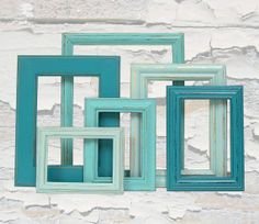 Shades of Blue Paint | Collect frames and paint using your shades of blue, use to decorate ...