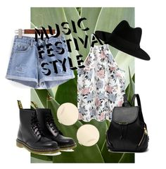 """""""Music festival style 2"""" by mllexelisa ❤ liked on Polyvore featuring Dr. Martens, Yves Saint Laurent and Victoria Beckham"""