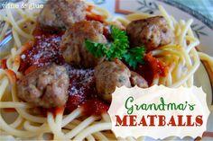 Grandma's Italian Meatballs Recipe! #meatball #recipes