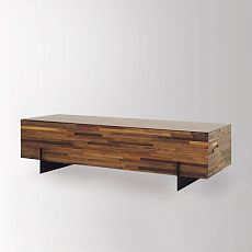 Landon Mixed Wood Rectangular Coffee Table - rustic - coffee tables - new york - by Zin Home Modern Wood Furniture, New Furniture, Table Furniture, Contemporary Furniture, Living Room Furniture, Furniture Design, Reclaimed Furniture, Modern Console Tables, Modern Table
