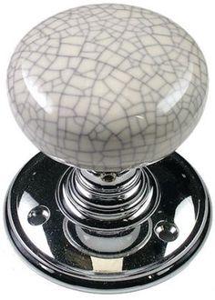 Delamain White Crackle Porcelain Door Knob Face Fix Unsprung ...