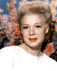 Betty Hutton ( American stage, film, and television actress, comedian and singer)