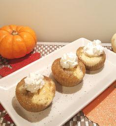 Pressure Cooker Pumpkin Muffin Cheesecake Bites Image
