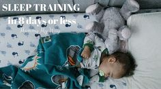 Sleep Training my 10 month old in 8 days or less Zay has never been a great sleeper. Think back to his 4 month sleep regression that lasted well over 2 months. Also understand that I have had to physically rock him to sleep every …