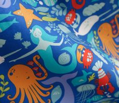 Sea Life - Under the Sea - Monaluna Organic Fabric