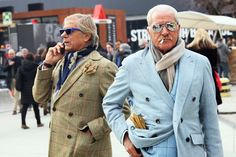 Old school Italian men keepin it REAL in Milan...sooo freakin' PIMP!   -  STREETFSN