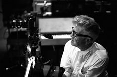 David Lynch at work on the NIN video