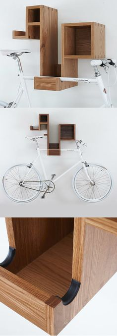 Amazing space-saving dirt bike storage ideas for small room and apartments. These indoor bike storage solutions are for pedal pushers who can't part with their bike. Bicycle Storage Rack, Indoor Bike Storage, Indoor Bike Rack, Wall Bike Rack, Bike Storage Shelf, Bicycle Rack, Bicycle Shop, Bmx Bicycle, Bike Store