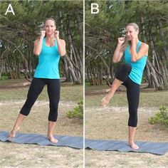 10 Crunch-Free Moves for Killer Abs - Try this Pilates and kickboxing-inspired circuit for strong, defined abs. via SHAPE (sample of piloxing - love it! @Lindsey Fordham)