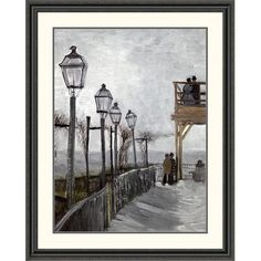 Global Gallery 'Terrace and Observation Deck at the Moulin' by Vincent Van Gogh Framed Painting Print Size: