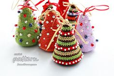 Little Crochet Christmas Trees by zoom yummy