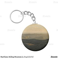 KeyChain: Rolling Mountain Basic Round Button Keychain