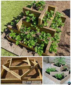 STRAWBERRIES How to Build Tiered Box Planter Tower-20 DIY Raised Garden Bed Ideas Instructions