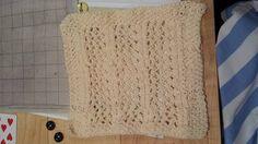 knit dishcloth by Smeddley