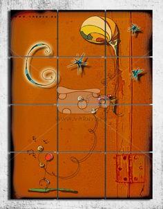 hallóittaföld - mozaik kép faldekoráció, Dekoráció, Otthon, lakberendezés, Képzőművészet , Falikép, Meska