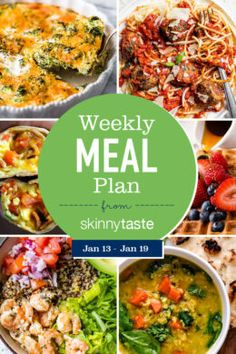 Skinnytaste Meal Plan (January A free flexible weight loss meal plan including breakfast, lunch and dinner and a shopping list. All recipes include calories and updated WW Smart Points. Best Diet Plan, Healthy Diet Plans, Diet Meal Plans, Healthy Eating, Healthy Recipes, Healthy Meals, Meal Prep, Planning Budget, Meal Planning