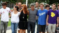 Bruce Springsteen And Family Out In Spain