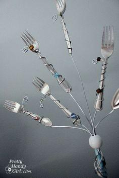 fork photo holder tutorial