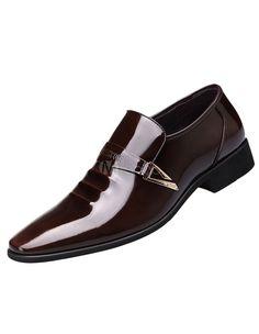 Brown señaló Toe PU zapatos de vestir para hombres