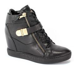 Sneakersy Carinii B4095-E50-000-PSK-B88 Czarny | Eurobuty