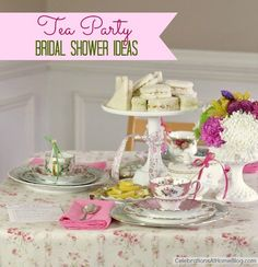 This website is for a bridal shower tea party, but I am considering using the idea for a Mother's Day tea party to include my mom and 4 year old daughter. So cute!