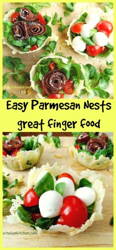 Ready in minutes, Parmesan cheese nests. Great as party food!