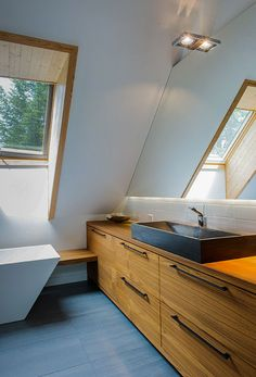 Salle de bain Cuisines Design, Double Vanity, Bruno, Bathroom, Deco, Shower Inserts, Wood Veneer, Counter Top, Apples