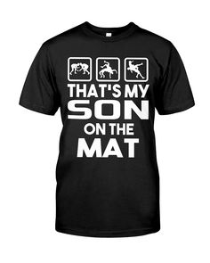 My Dad On The Mat Wrestling shirts, apparel, posters are available at Medotukito-Designs. Wrestling Mom, Wrestling Shirts, Dance Moms, Dad To Be Shirts, Classic T Shirts, Sons, Mens Tops, Posters, Clothes