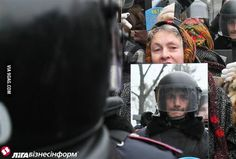 Protesting with a mirror