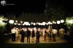 Outdoor dance floor lighting