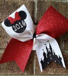 Cheer bow. Disney bow. Worlds or Summit by CurlyNoodleCreations