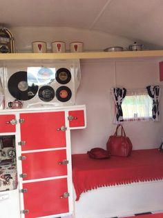 Vintage Caravan Interiors, Bunk Beds, Entryway, Loft, Furniture, Home Decor, Homemade Home Decor, Loft Beds, Entrance