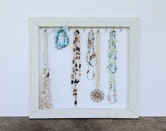 Jewelry organizer  necklace holder  shabby by YouMatterDesigns, $32.00