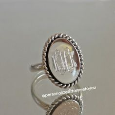Isn't this monogrammed ring classic?!?!