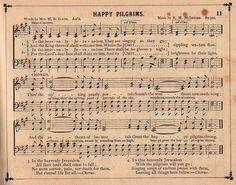 Vintage Sheet Music- Happy Pilgrims - The Graphics Fairy