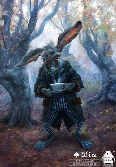 March Hare by Michael Kutsche, Alice in Wonderland, March Hare, Tim Burton, tea party, Alice, Mad Hatter, Cheshire Cat, Caterpillar, White Rabbit