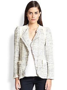 Rebecca Taylor Metallic Tweed Blazer
