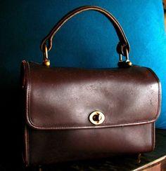 BONNIE-CASHIN-for-COACH-Lunch-Box-Bag-Purse-VTG-60s-Stripe-Lining-Pre-Creed-Rare