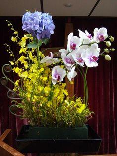 教會插花, 跳舞蘭, 蘭花, Oncidium, flower arrangement
